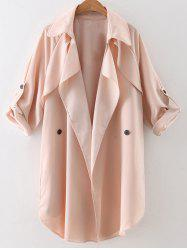 Waterfall Buttoned Trench Coat -