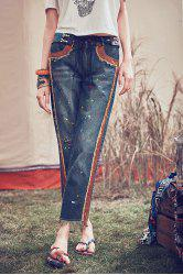 Ankle Length Straight Jeans -