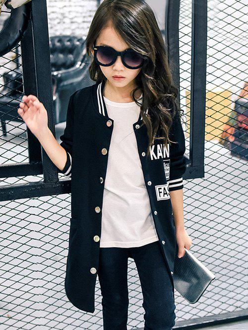 Discount Letter Printed Baseball Jacket Style Coat