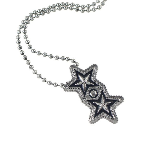 Shop Pentagram Geometric Beaded Pendant Sweater Chain