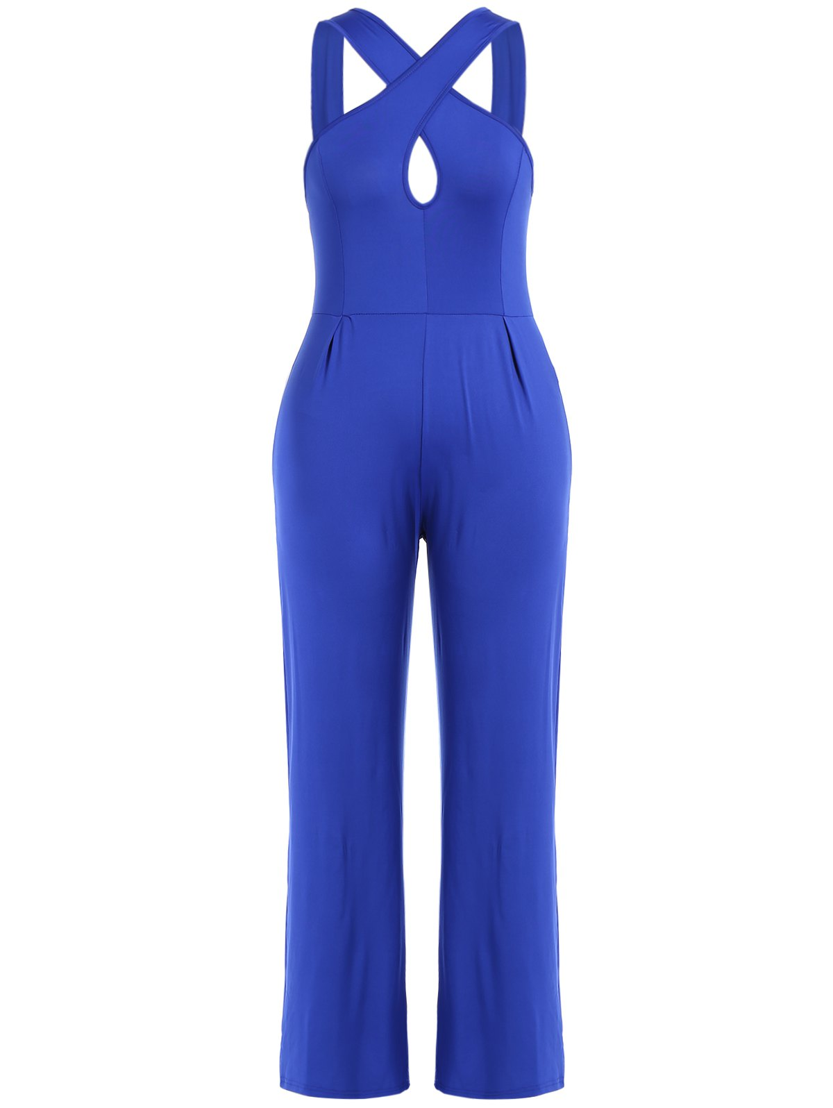 Online Criss Cross Hollow Out Wide Leg Jumpsuit