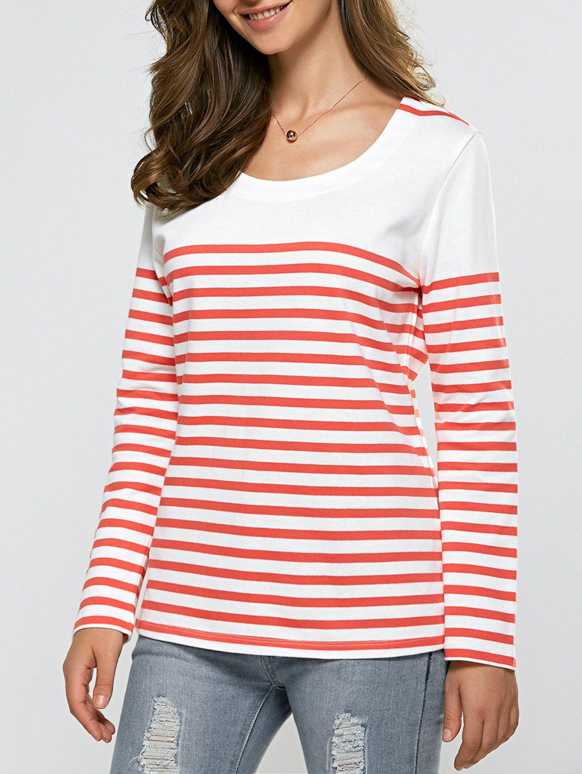 Pull à rayures Casual Rouge et Blanc M