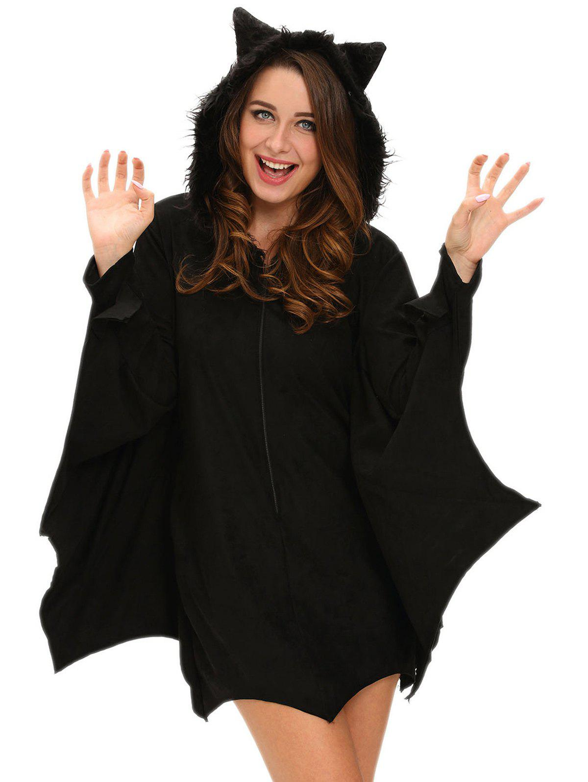 Outfit Hooded Bat Cosplay Halloween Costume