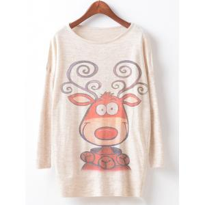 Loose Printed Cute Sweater