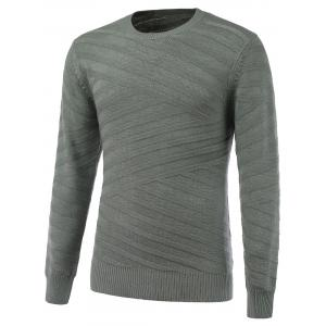 Round Neck Long Sleeve Ribbed Pullover Sweater