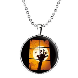Bat Hand Pattern Pendant Halloween Necklace