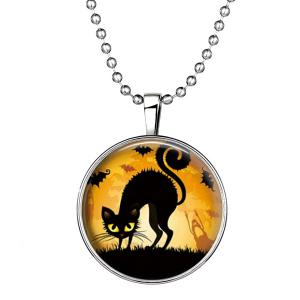Cat Bat Pendant Halloween Necklace