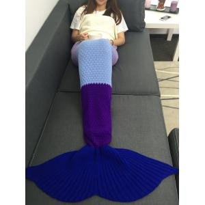 Warmth Assorted Color Knitted Mermaid Tail Blanket - Colormix - W31.50inch*l70.70inch