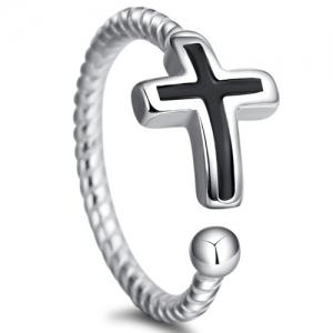 Cross Twist Open Ring