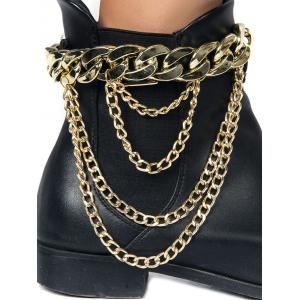 Chain Chunky Style Layered Boot Anket