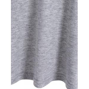 One Pocket 3D Floral Splicing T-Shirt - GRAY S