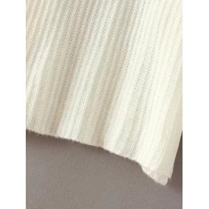 Flare Sleeve Loose Sweater - WHITE ONE SIZE