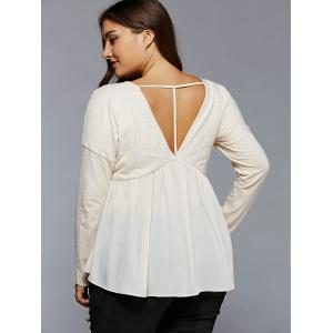 Plus Size Open Back Smock Blouse -