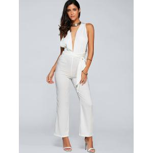 Low Cut Back Criss Cross Jumpsuit -