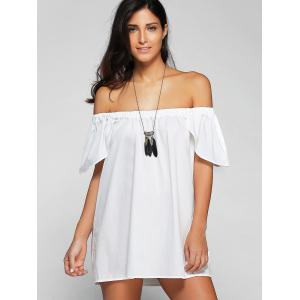 Off The Shoulder Cap Sleeve Loose Blouse -