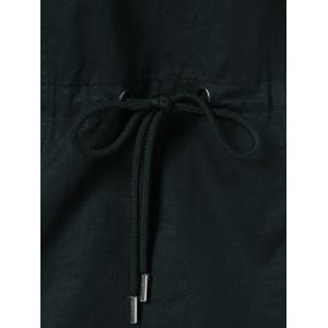 Drawstring Hooded Cargo Jacket -