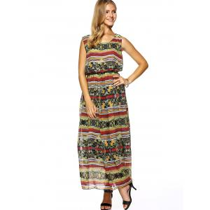 Printed Chiffon Beach Dress -