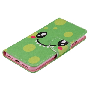 Smiling Face PU Wallet Design Phone Case For iPhone 7 Plus -