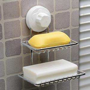 Strong Suction Cup Double Layer Soap Holder -