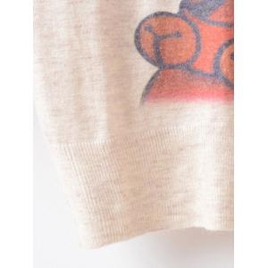 Loose Printed Cute Sweater - BEIGE ONE SIZE