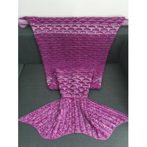 Portable Latticed Style Mermaid Tail Blanket -