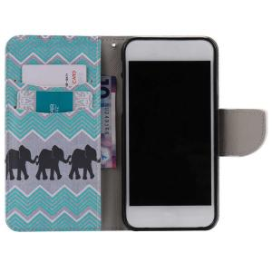 Wave Elephant PU Wallet Design Phone Case For iPhone 7 Plus -