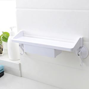 Wall Mounted Suction Cup Kitchen Bathroom Shelf Holders -