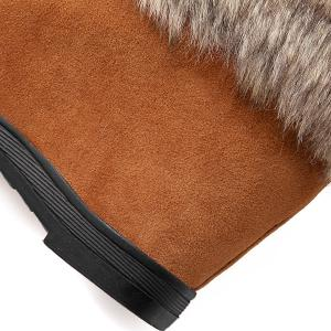 Faux Fur Hidden Wedge Studded Short Boots - LIGHT BROWN 43