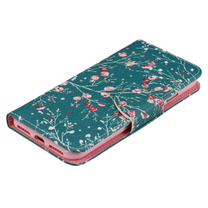 Wallet Design Spring Blossom Pattern Phone Case For iPhone 7 -