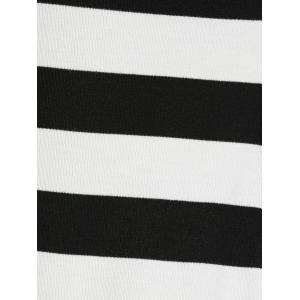 Hooded Striped Slimming Dress -