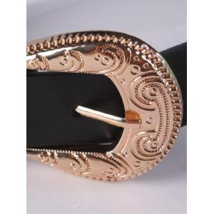 Trousers Wear Chain Tassel 2 Buckle Belt - BLACK
