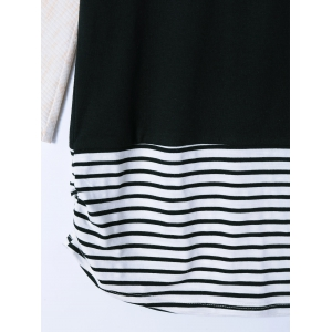 Striped and Ribbed T-Shirt -