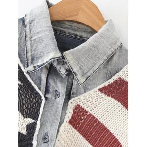 American Flag Single Breasted Cardigan - COLORMIX ONE SIZE