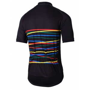 Colorful Raglan Sleeve Zip Up Cycling Top -
