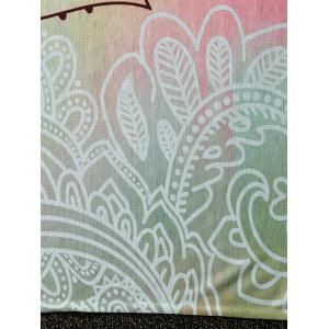 Lotus Flower Rectangle Throw Tapestry Beach Throw -