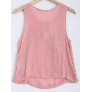 Round Neck Layered Cut Out Tank Top -