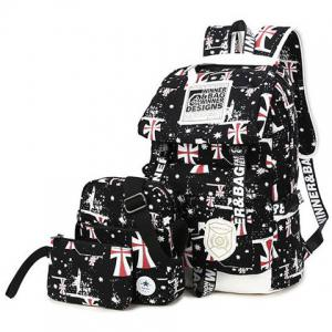 Canvas Stars Cross Print Backpack -