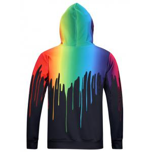 New Look Paint Splash Print Long Sleeve Hoodie For Men -