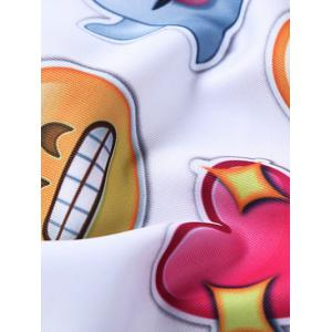 Round Neck 3D Emoji Print Long Sleeve Sweatshirt -