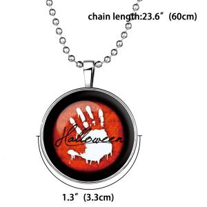 Vintage Blood Hand Pendant Halloween Necklace -