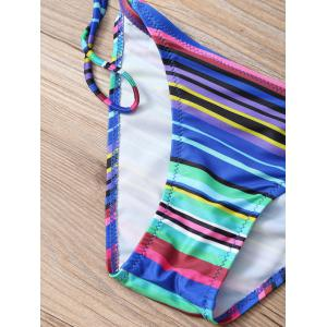 Tropical Coconut Tree Print String Bikini Set -