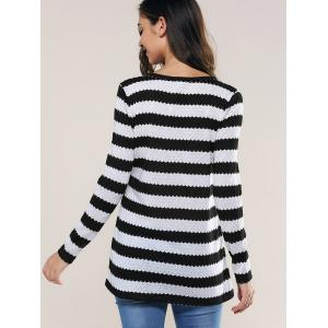 Striped Knitting Blouse -
