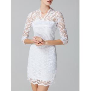 See-Through Lace Bodycon Dress -