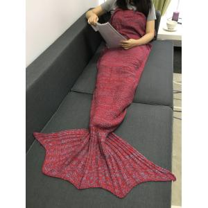 Chic Women's Fishtail Knitted Blankets and Throws - RED ONE SIZE(FIT SIZE XS TO M)