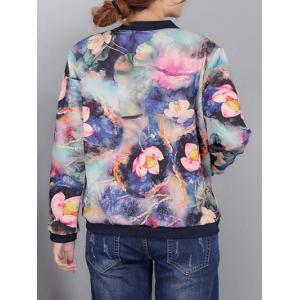Colorful Floral Print Bomber Jacket -