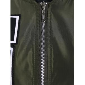 Epaulet Embellished Zip Up Bomber Jacket -