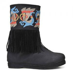 Fringe Embroidered Boots -