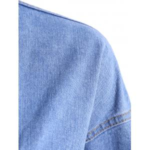 Pocket Design Oversized Denim Jacket -