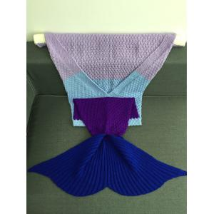 Warmth Assorted Color Knitted Mermaid Tail Blanket -