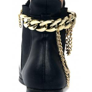 Chain Chunky style Layered Boot anket - Or